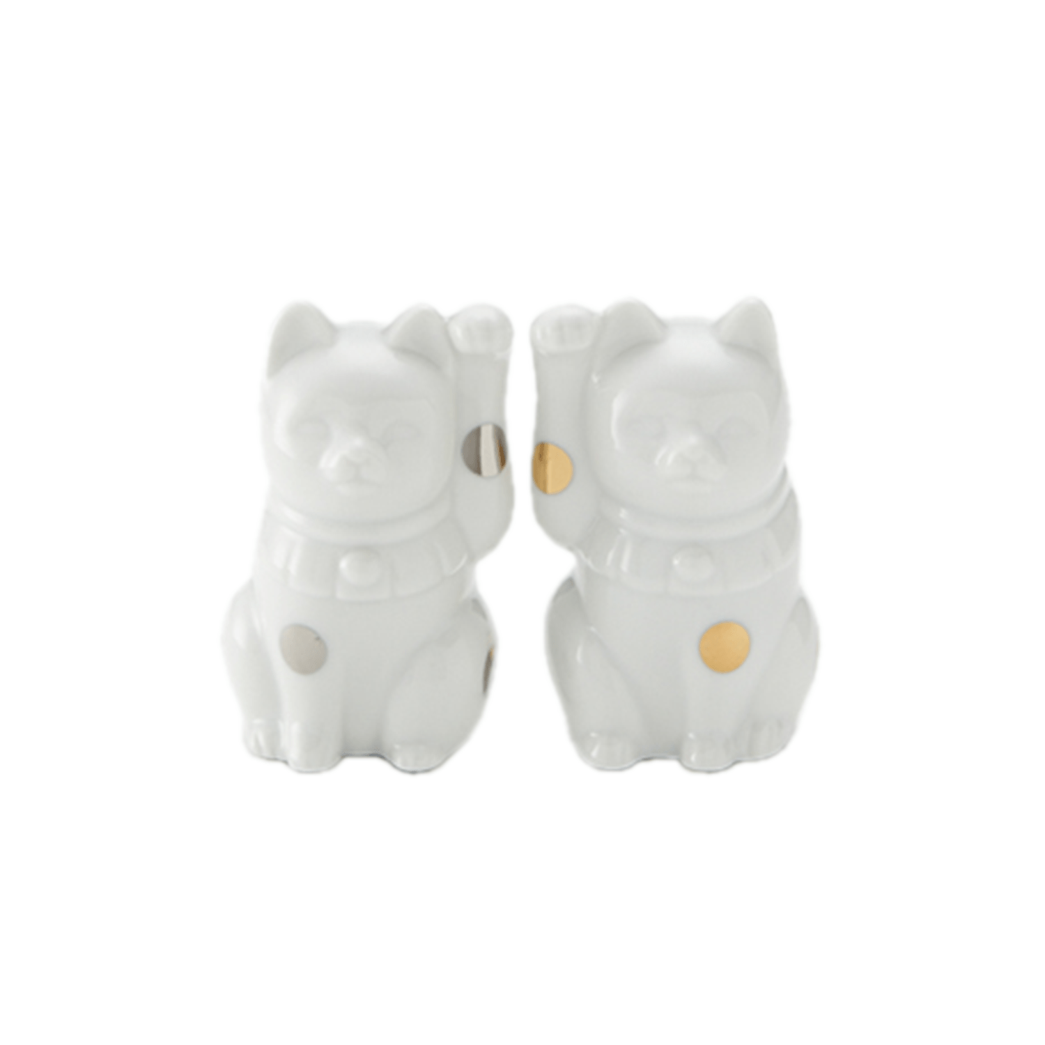 Floyd          Fortune Cat 2pcs set/White