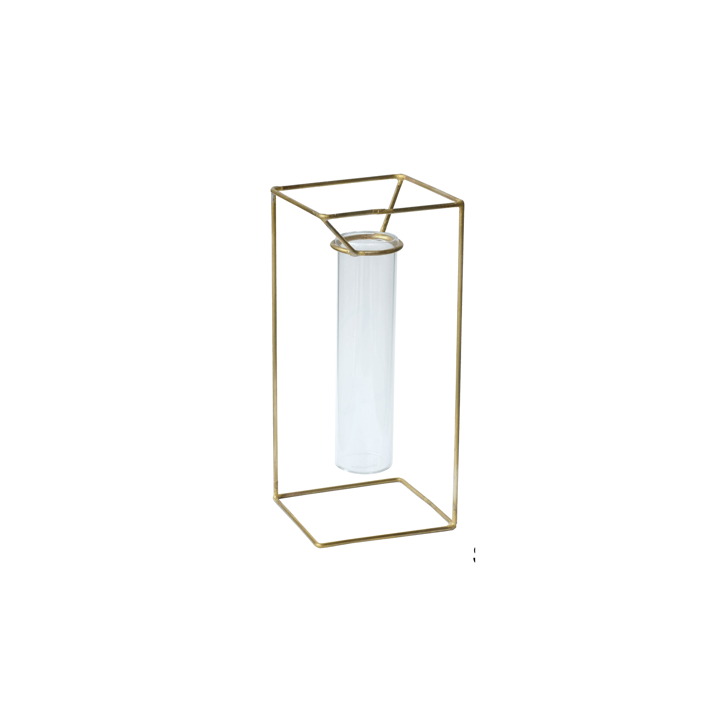 PIKE stand brass vase/Square