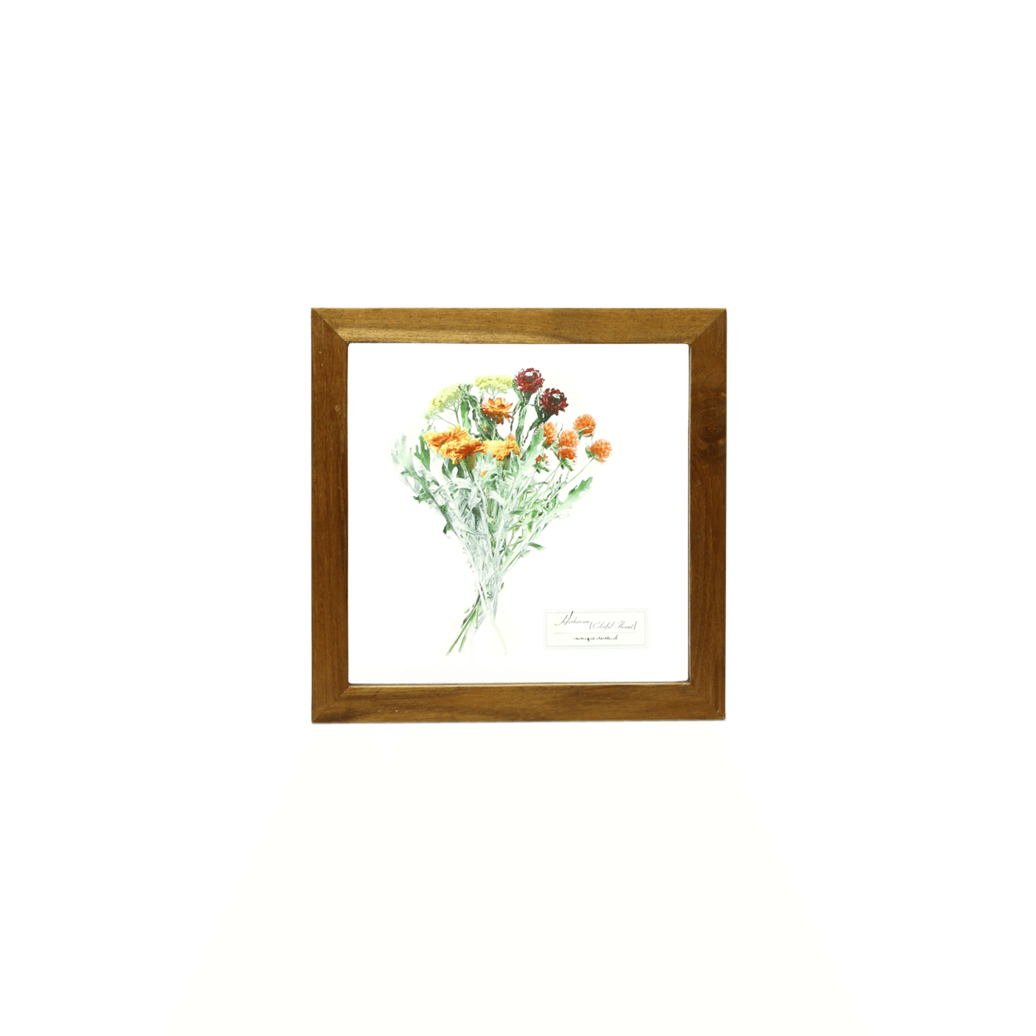 Glass Frame Flower/Orange