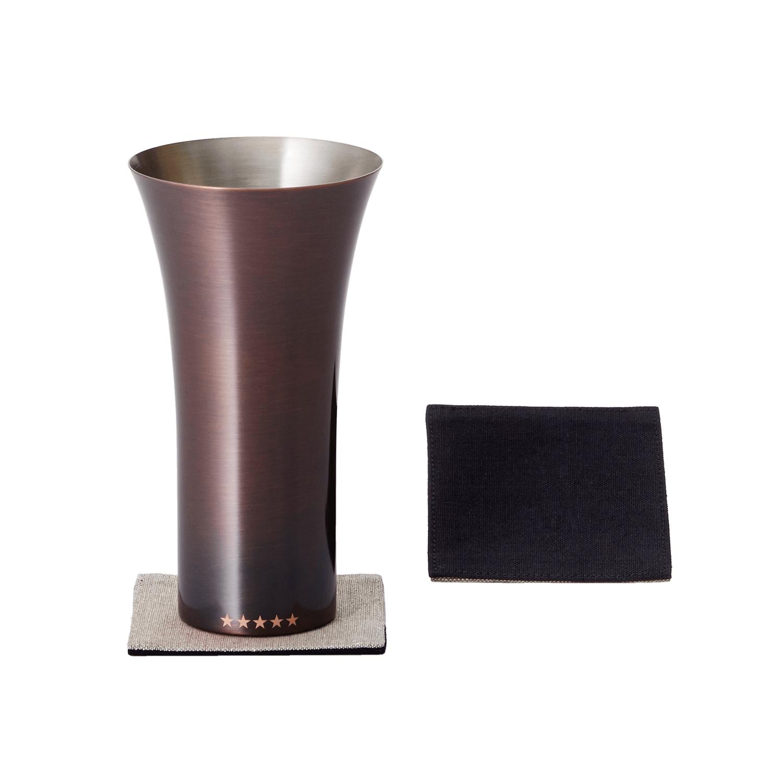 純銅製タンブラー/ブラウン