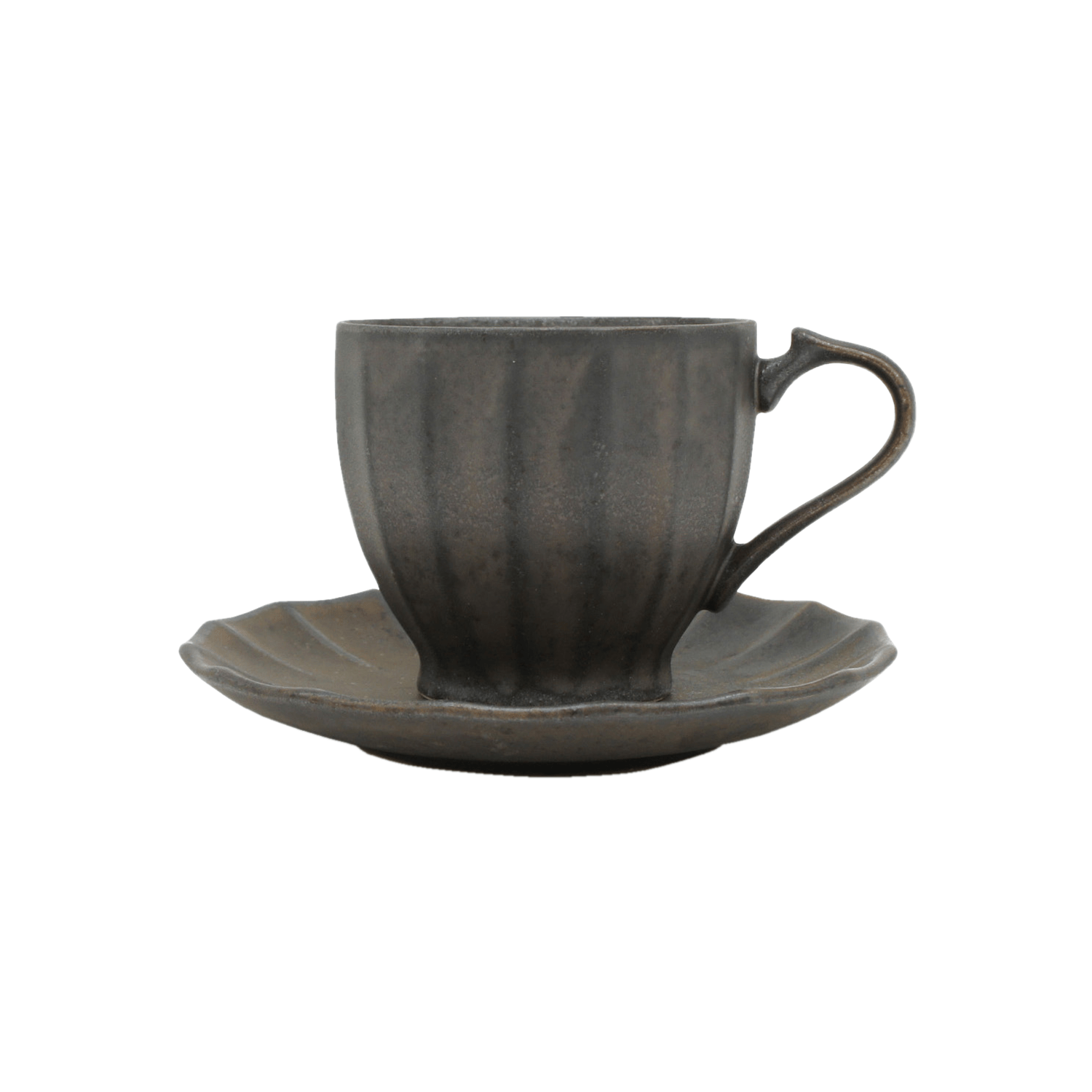 ANCIENT POTTERY Cup&Saucer/Brass
