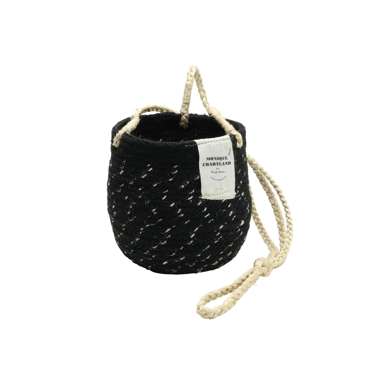 Jute Hanger Basket/Black