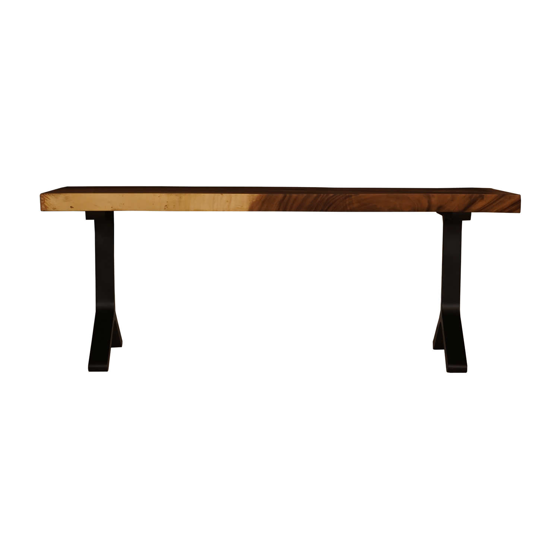 LY013モンキーポッド     一枚板 ダイニング テーブル