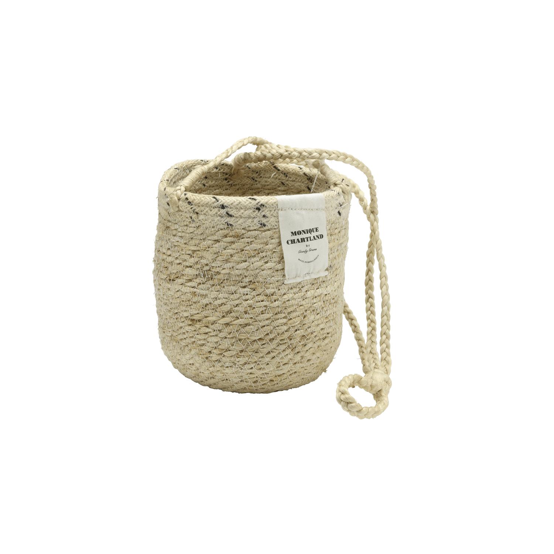 Jute Hanger Basket/White